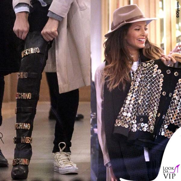Mariana-Rodriguez-giacca-stivali-Moschino