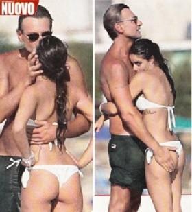 Roberto Farnesi, morsi e palpatine con la giovane fidanzata