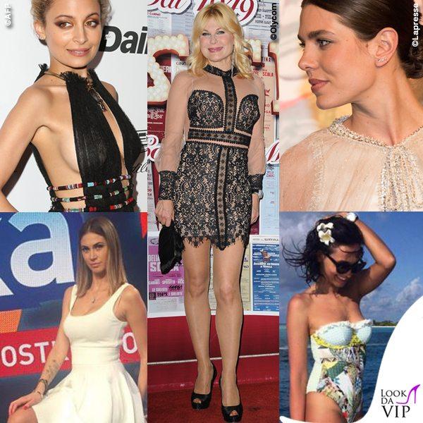 Nicole-Richie-Patrizia-Pellegrino-Charlotte-Casiraghi-Melissa-Satta-Caterina-Balivo