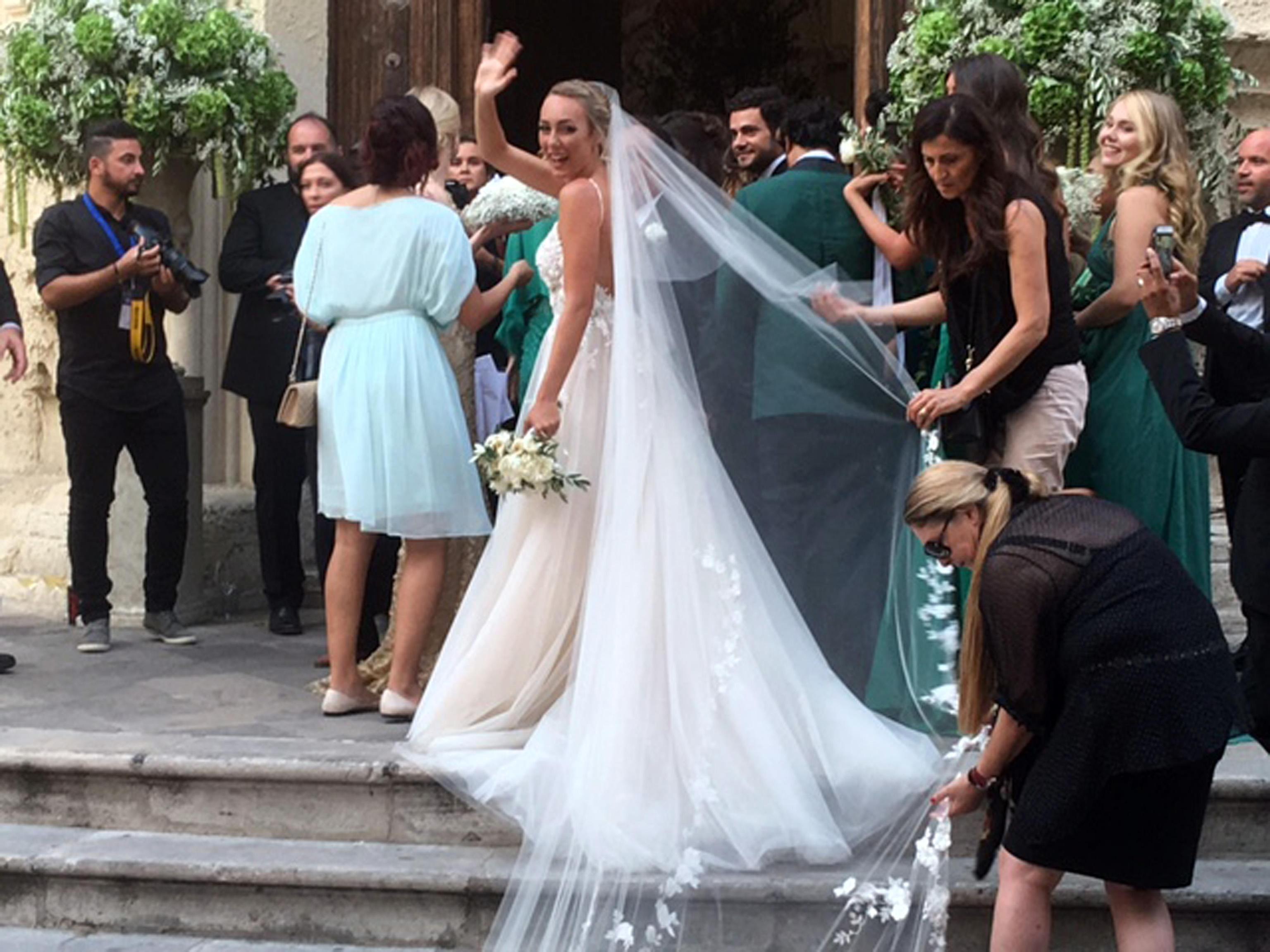 Matrimonio tra Cristel Carrisi, e Davor Luksic, imprenditore cileno-croato