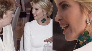 Ivanka dalla Merkel con gli orecchini italiani